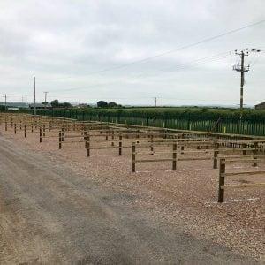 Commercial fencing for caravan park