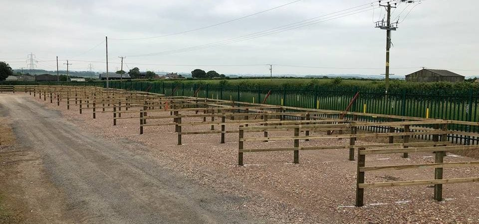 Commercial fencing for caravan park