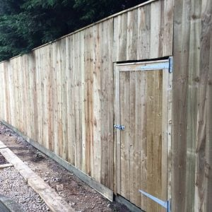 Fence inbuilt door