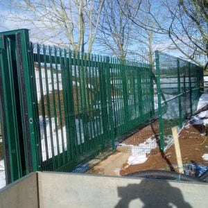 Security fence commercial job