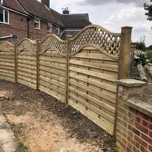 Stathern lap panel with trellis on top