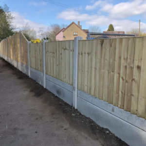 metal and wooden fencing