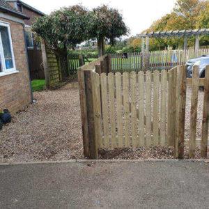 wooden picket fencing