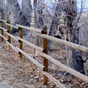 wooden horse fence